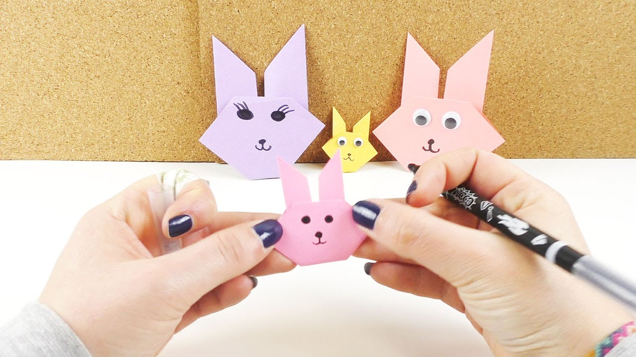 Origami Osterhase Faltanleitung Einfach : origami osterhasen gesicht einfach falten osterhasen basteln aus papier deutsch youtube ~ Watch28wear.com Haus und Dekorationen