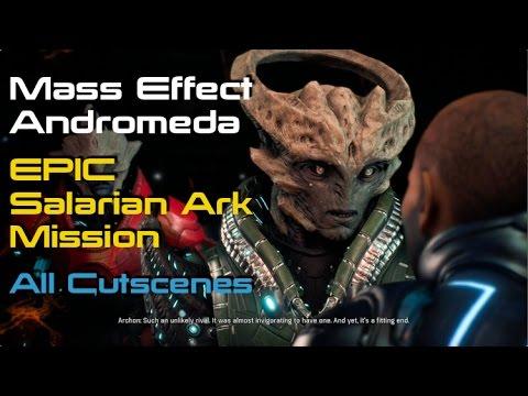 Mass Effect Andromeda Saving Salarian Ark From Archon All Cutscenes
