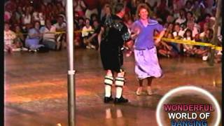 MARV HERZOG &THERESA HERZOG DANCING FOR THE SPECTATORS AT THE POLKA DANCE CONTEST