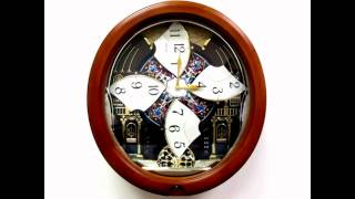 Qxm478brh Seiko Melodies In Motion Pendulum Wall Clock