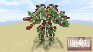 Controllable Two Legged Walking Attack Robot - Colossus [No Mods/ No Command Blocks]
