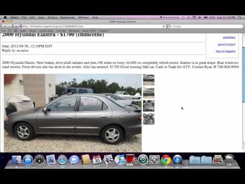 Craigslist Dayton Ohio Used Cars Deals On Local Owner Vehicles In October 2012 Youtube Try the craigslist app » android ios cl. youtube