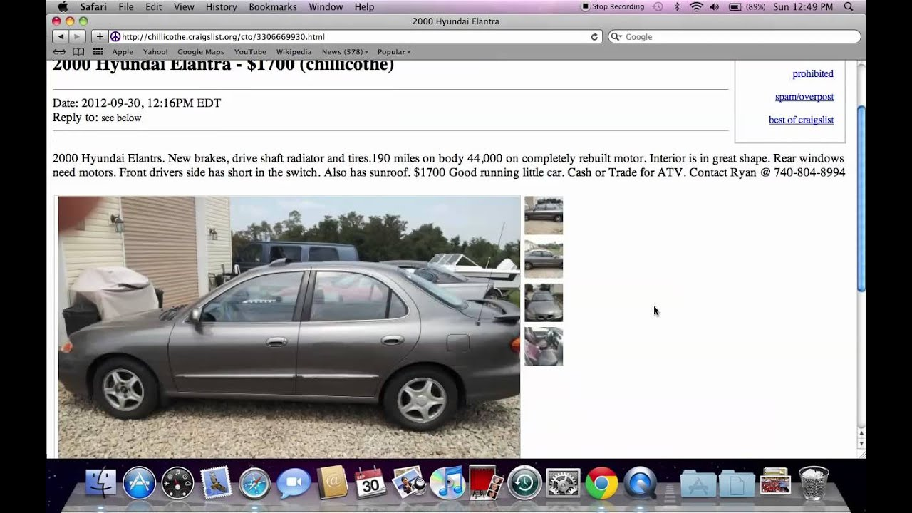 Craigslist Chillicothe Ohio Used Cars Trucks And Vans Local Private Owner Deals Youtube