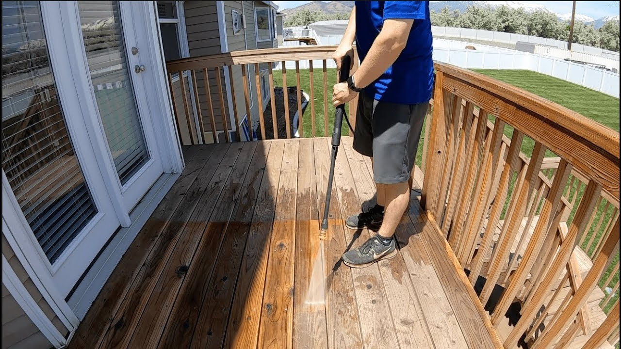 Pressure Washing and Re-Sealing my Deck