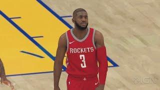 NBA 2K19 Gameplay 5v5 Rockets vs Warriors!