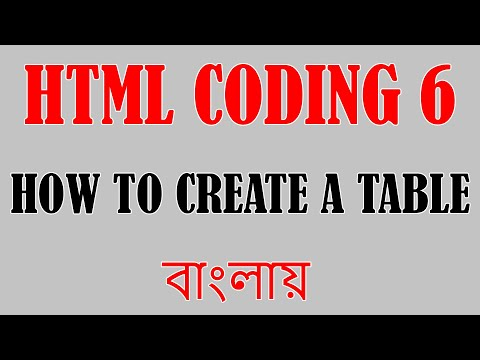 HTML CODING PART 6 | Create Table | BANGLA TUTORIAL