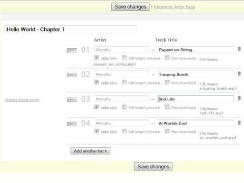 Register Artist at Last.fm with Monilla