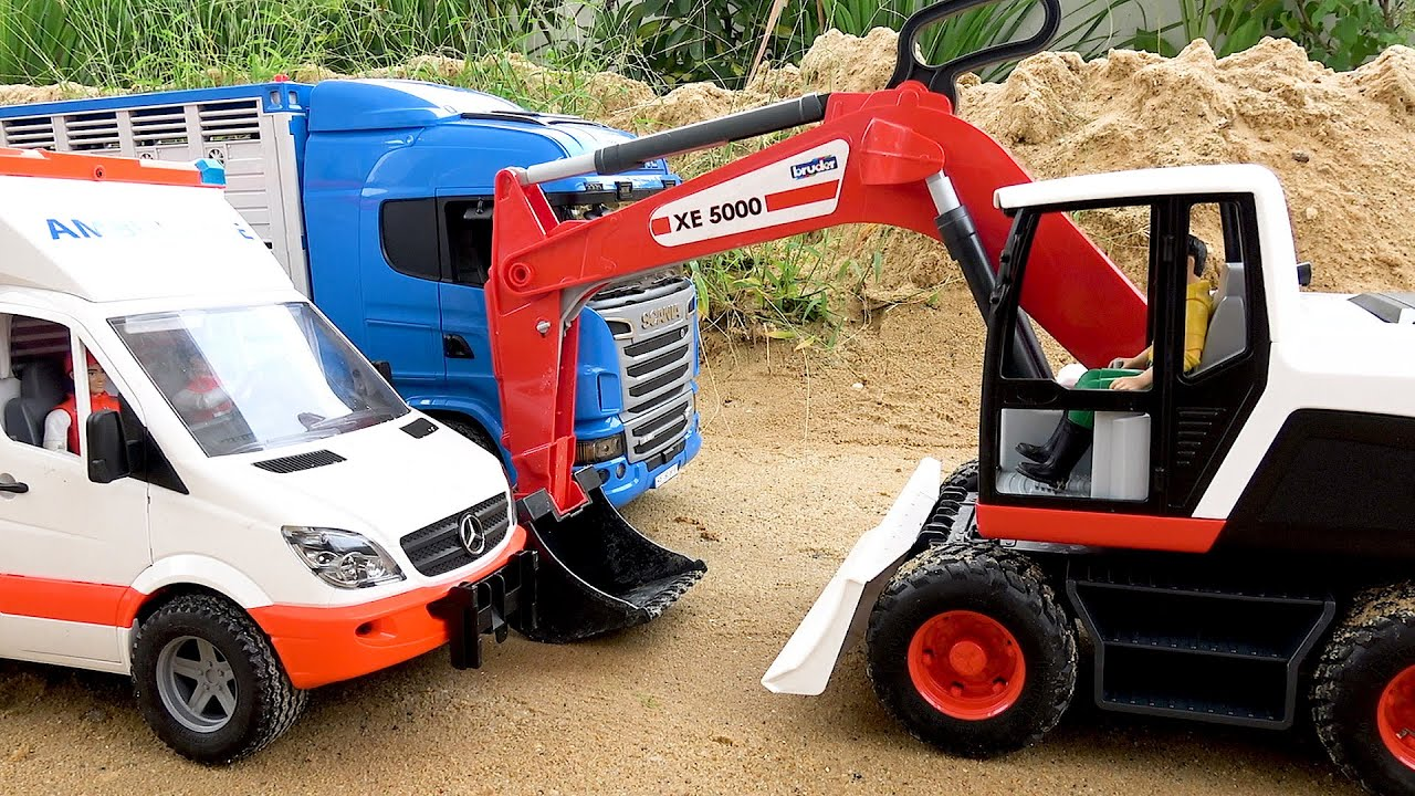 Funny story about Excavator Truck Video Toy Car
