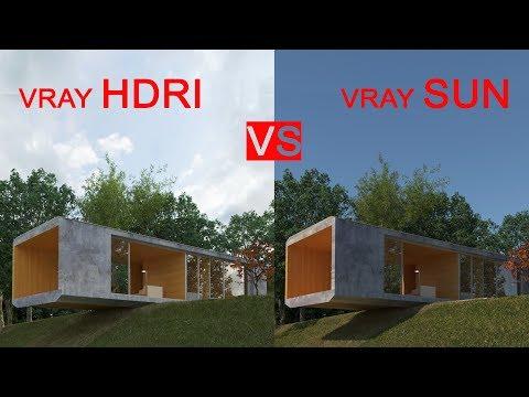 Vray Hdri Lighting VS Vray Sun Tutorial