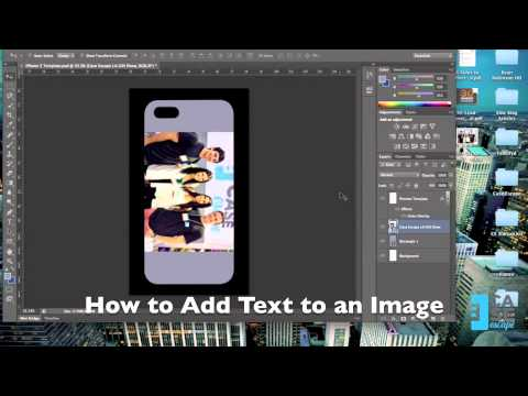 how to add text in photoshop iphone