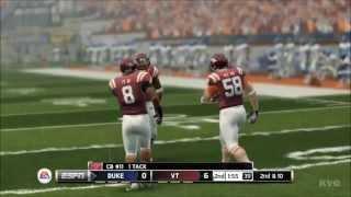 NCAA Football 14 - Duke vs. Virginia Tech Gameplay [HD]
