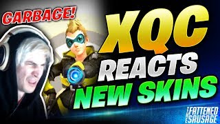 xQc Reacts To The NEW OVERWATCH SKINS! Guess Which He Hates Most!