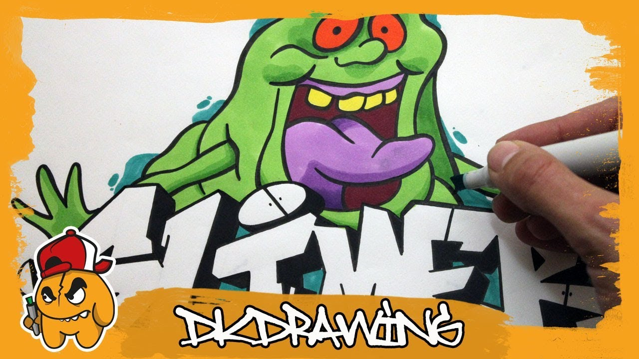 How To Draw Graffiti Letters Slimer Slimer Cartoon Character The