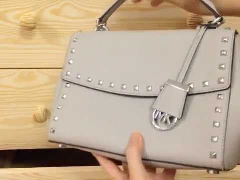 111bcc700549 Bag Review] MICHAEL KORS Ava Small Studded Leather Satchel - YouTube