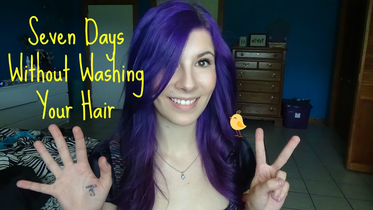 only wash your hair once a week | i go seven days with out washing