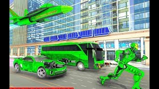 New Army Bus Robot Transform Wars | Air Jet Robot Android GamePlay | By Game Crazy screenshot 1