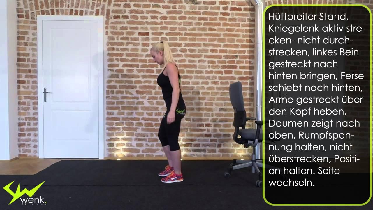 Balance, Stabilität von Bein bis Schultergürtel- Standwaage - wenk ...
