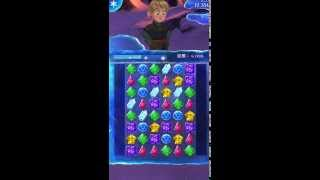 "『アナと雪の女王: Free Fall』パズルゲームプレイ動画Puzzle game play video: ""Free Fall Snow Queen and Ana"""