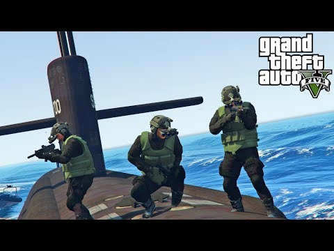GTA 5 - Navy SEALs Taking Russian Submarine! Military ARMY P