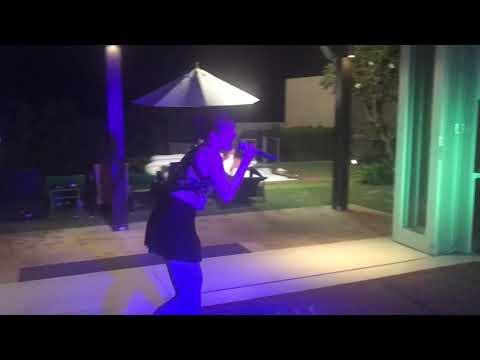 Karaoke at villa party
