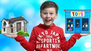 ALİ EVİNİ OYUNCAKÇIYA DÖNÜŞTÜRDÜ! Funny Magic Transform House into Toys Shop, Kids Pretend Playtime