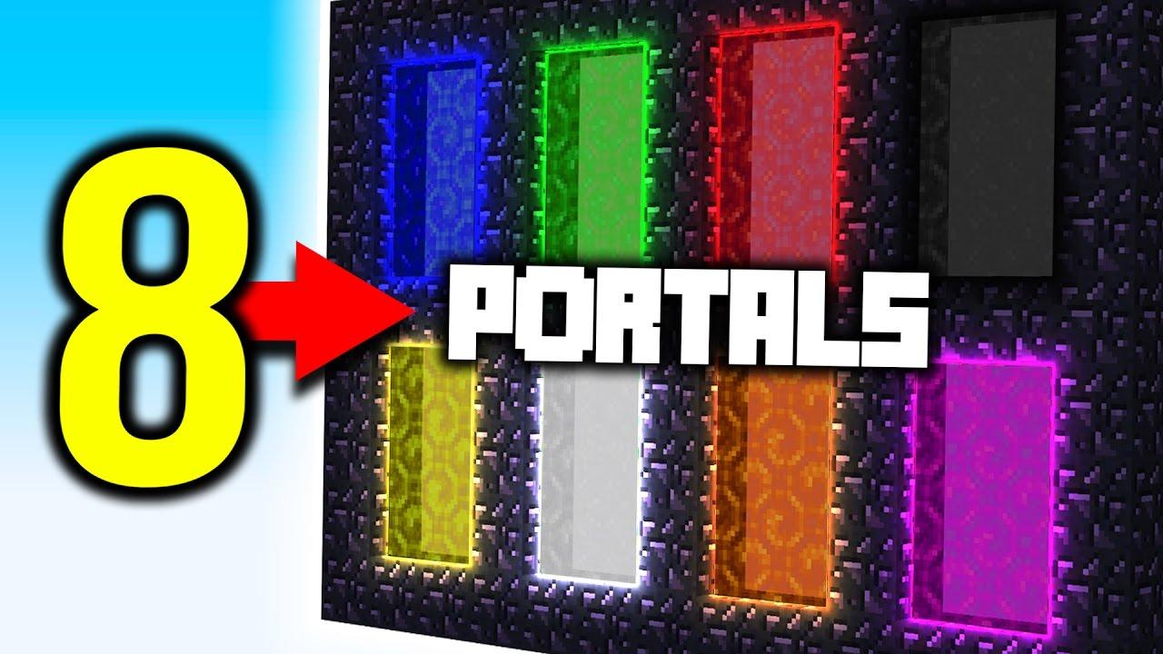 Minecraft 8 Portals Youtube