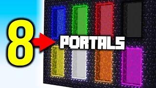 Minecraft 8 PORTALS!