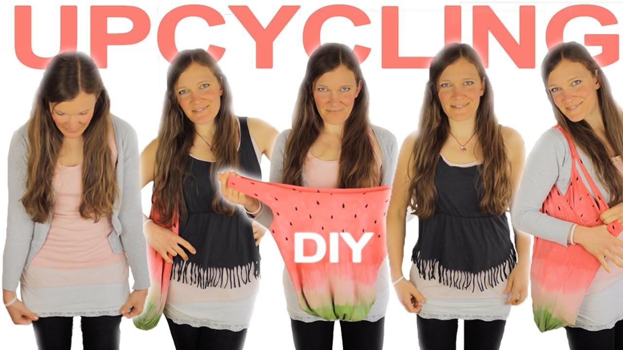Upcycling Für Alte Shirts Rock Tasche Top 3x Ohne Nähen Youtube