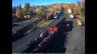 10/21/2018 The final train 215 for the 2018 season arrives into Chama, NM