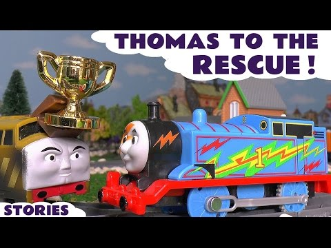 Thomas and Friends Rescue Episodes with Superheroes Batman and PJ Masks & Halloween ToyTrains4u