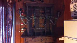 Home Made Bow Rack