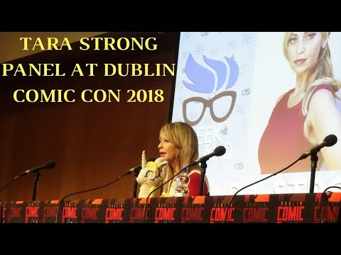 Tara Strong panel at Dublin Comic Con 2018 (voice actor for