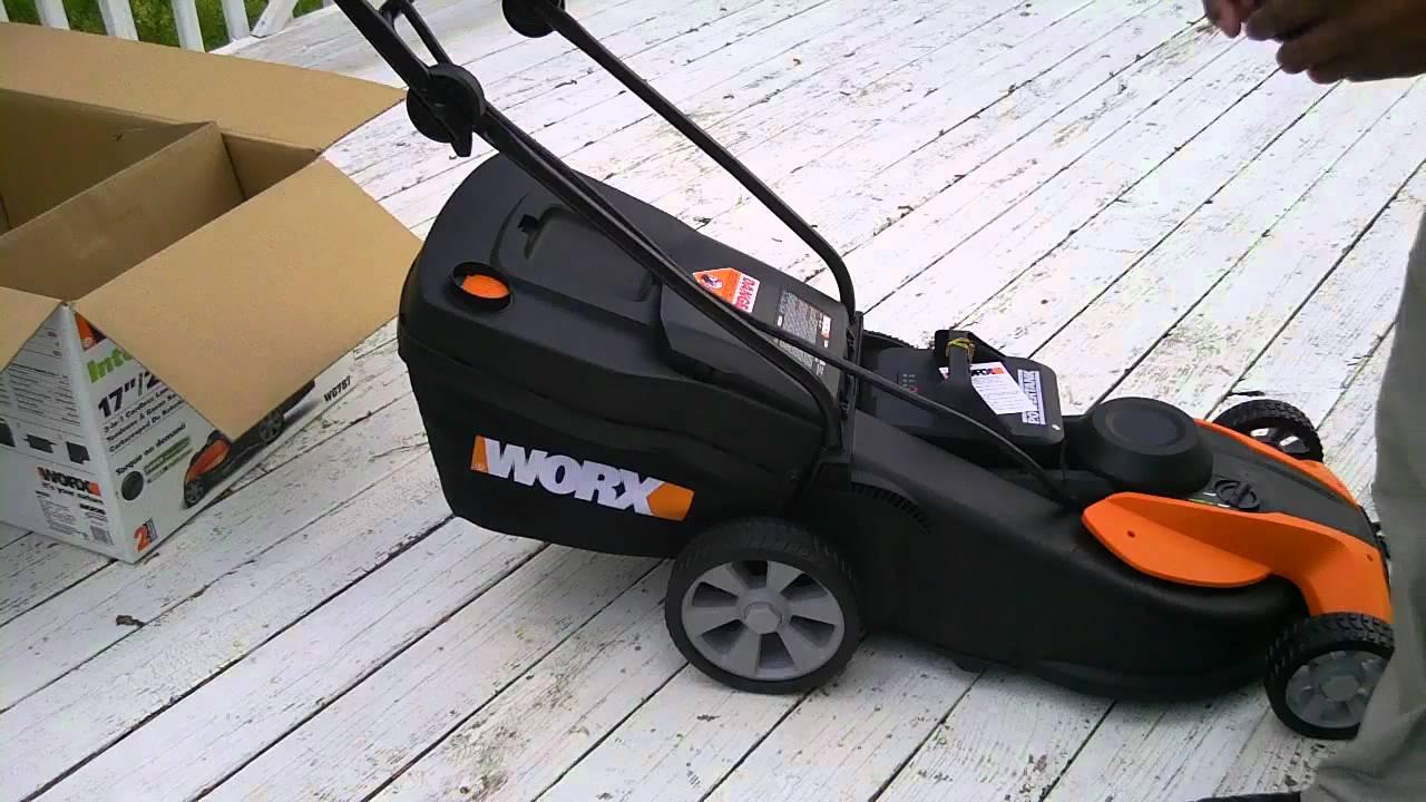 Unboxing Worx 24 Volt 17 Quot Cordless Electric Push Lawn