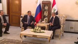 С.Лавров и М.Хаким (в узком составе), Багдад, 7 октября 2019 года