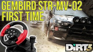 DIRT 3 With Gembird STR MV-02 Steering (Wheel First Time)