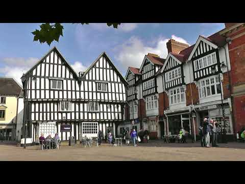 ENGLAND Evesham, Worcestershire (hd-video)