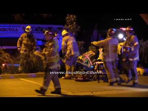 Mass Casualty Traffic Collision / Wildomar  RAW FOOTAGE