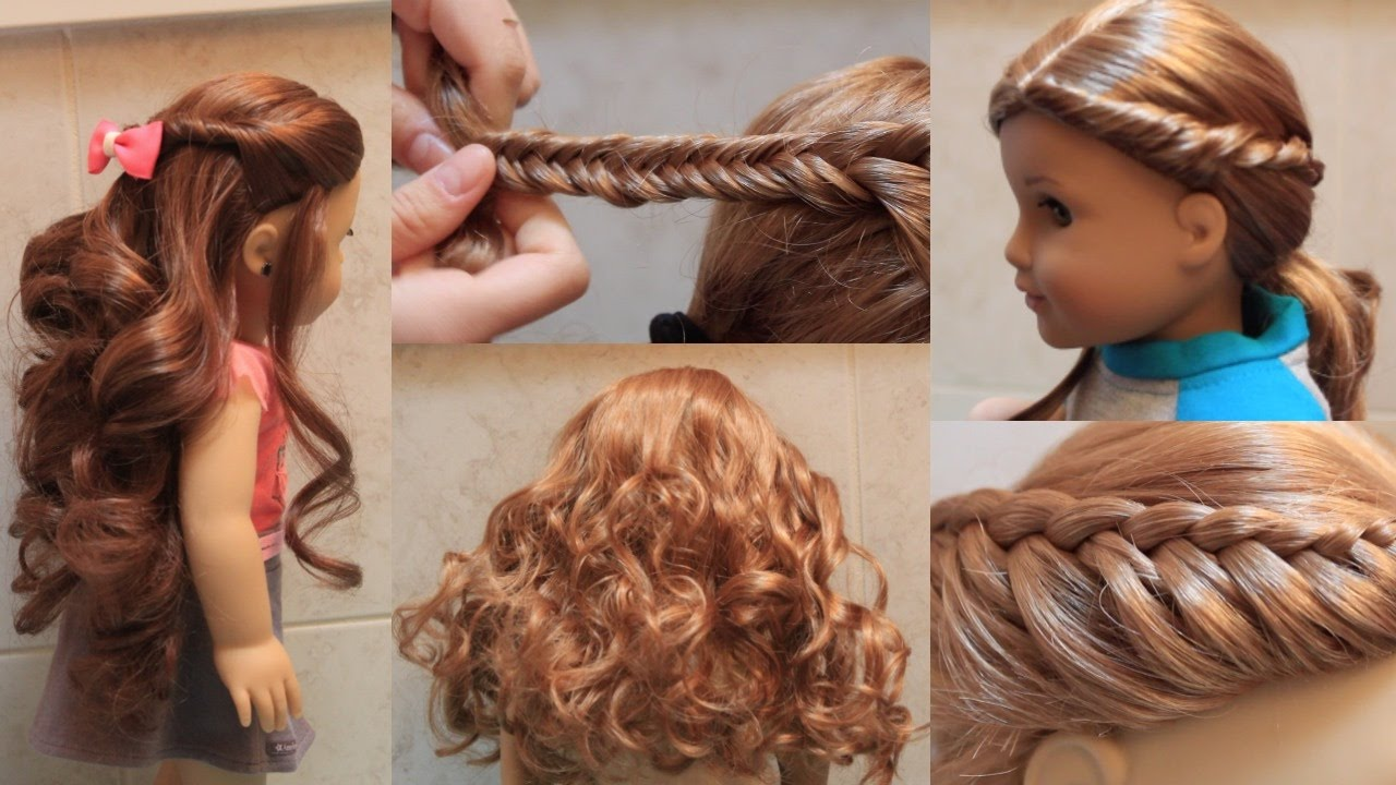 Cute American Girl Doll Hairstyles! - YouTube