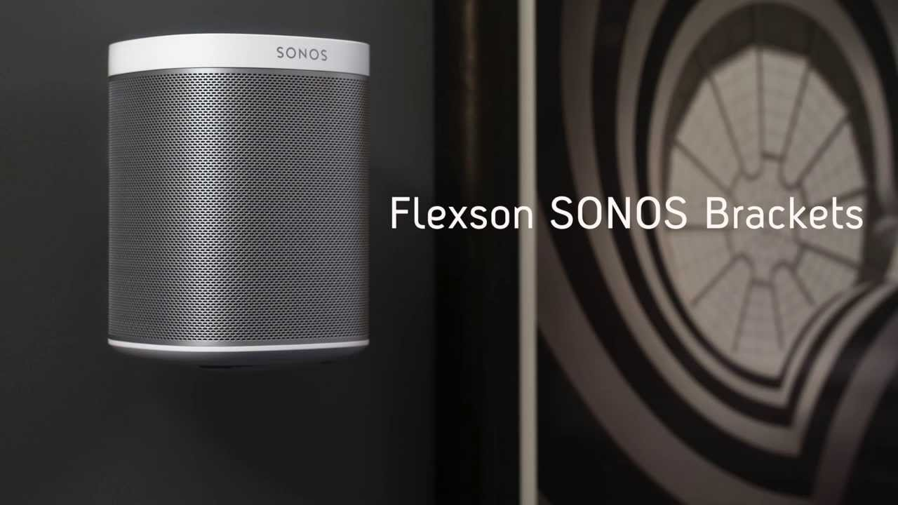 Flexson How to wall mount your SONOS Play1 speaker  YouTube