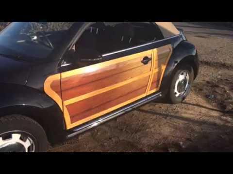VW Beetle Woodie Wrap and real Wood