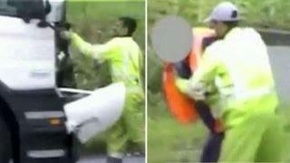 Violent road rage incident caught on camera