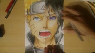 How To Draw Naruto X Sasuke (Rinnengan) | Wie Zeichnet Man Naruto X Sasuke (Rinnengan)