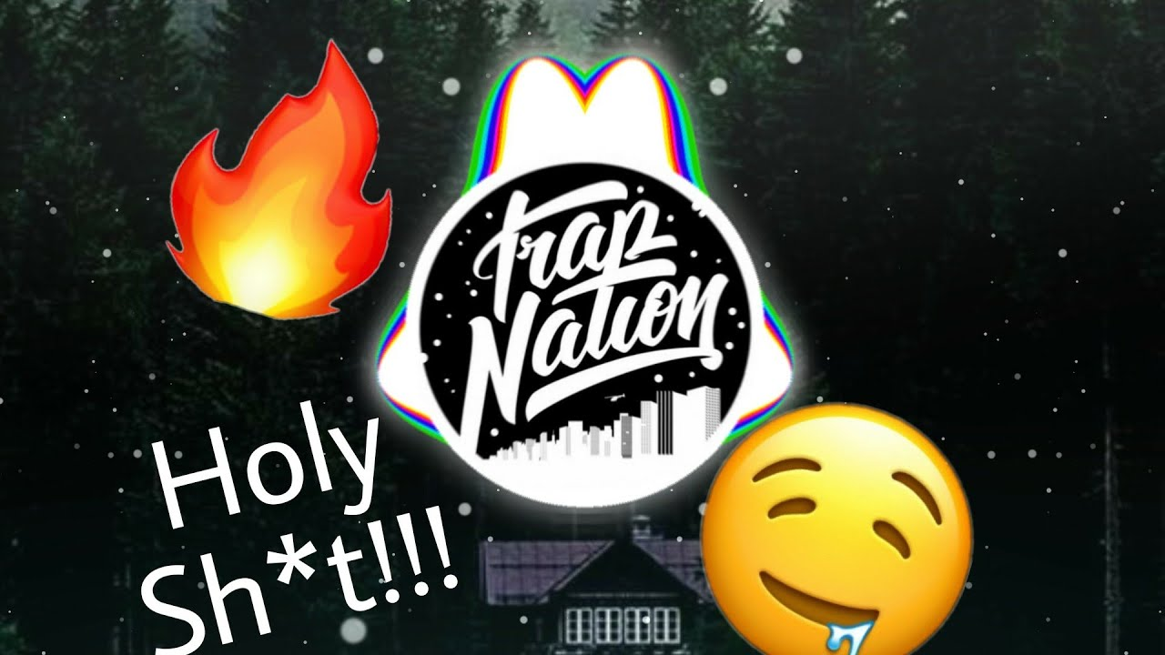 trap nation spectrum with mirror effect multi color blur and logo