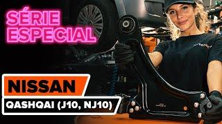 Como substituir a braço de suspensão dianteira no NISSAN QASHQAI (J10, NJ10) [TUTORIAL AUTODOC]