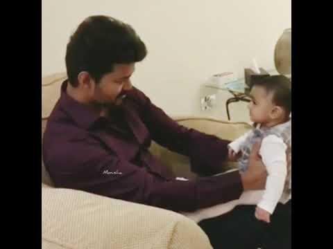 Thalapathy vijay with cute kid | Whatsapp Status | Azhagu kutti chellam song | Thalapathy Cute smile