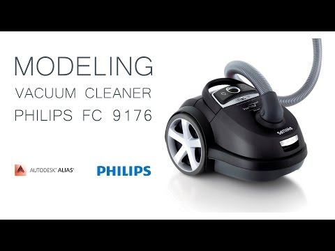 Modeling in Alias Surface (automotive). Vacuum cleaner Philips fc 9176