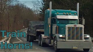 New Capitol Trucks! - Macks, Peterbilts, & Train Horns!
