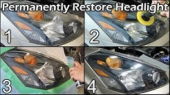 Permanently Restore Headlight with UV Protected Clear Coat