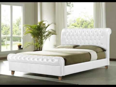 king size white bed frame with storage design