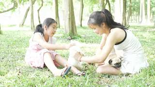 Amazing Beautiful Girl Playing With Dog Smart & Funny Dog# 14